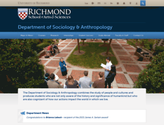 socanth.richmond.edu screenshot