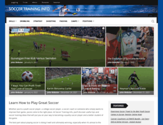 soccer-training-info.com screenshot
