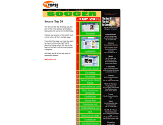 soccer.nettop20.com screenshot