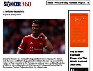 soccer360.co.uk screenshot