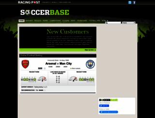 soccerbase.com screenshot