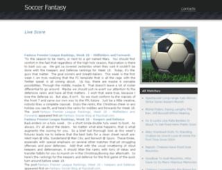 soccerfantasy.eu screenshot