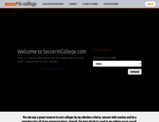 soccerincollege.com screenshot