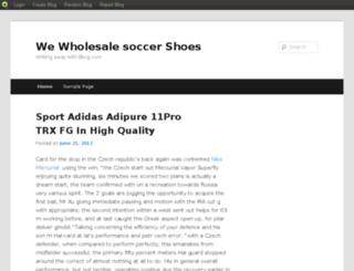 soccerlog.blog.com screenshot