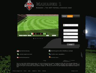 soccermanagerpro.com screenshot