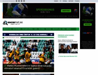 soccernet.ee screenshot