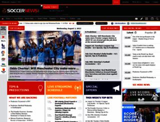 soccernews.com screenshot
