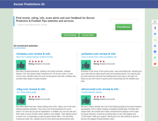 soccerpredictions24.com screenshot