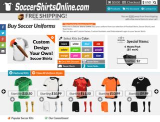 soccershirtsonline.com screenshot