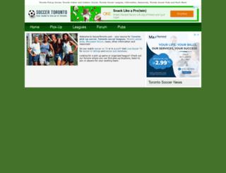 soccertoronto.com screenshot