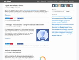 sociable.es screenshot
