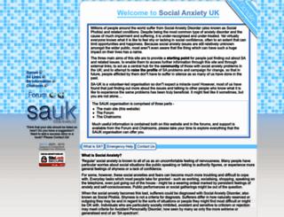 social-anxiety-community.org screenshot