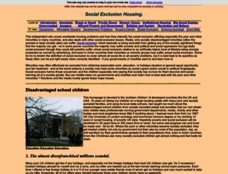 social-exclusion-housing.com screenshot