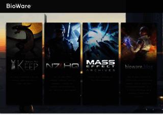 social.bioware.com screenshot