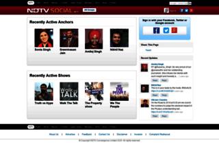 social.ndtv.com screenshot
