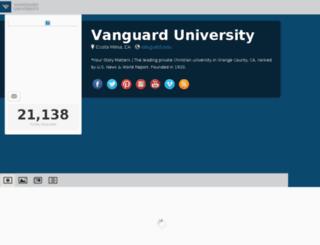 social.vanguard.edu screenshot