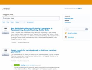 socialadr.uservoice.com screenshot