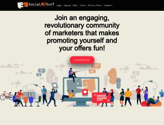 socialadsurf.com screenshot