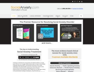 socialanxiety.com screenshot