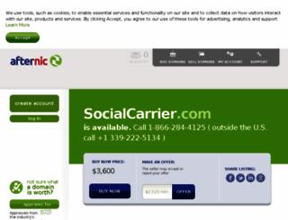 socialcarrier.com screenshot