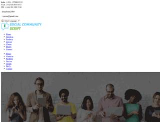 socialcommunityscript.com screenshot