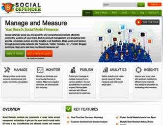 socialdefender.com screenshot