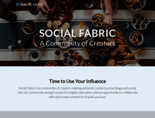 socialfabric.us screenshot