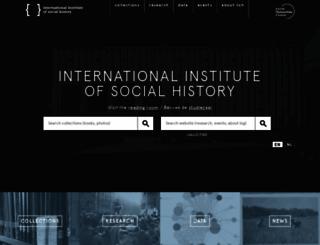 socialhistory.org screenshot