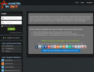 socialhits247.com screenshot