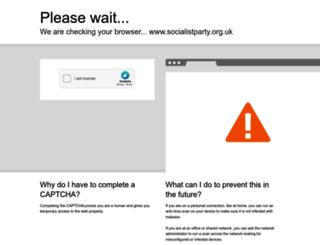 socialistparty.org.uk screenshot