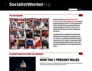 socialistworker.org screenshot