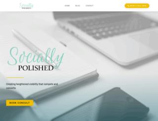 socially-polished.com screenshot