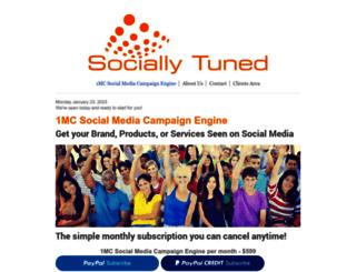 sociallytuned.com screenshot