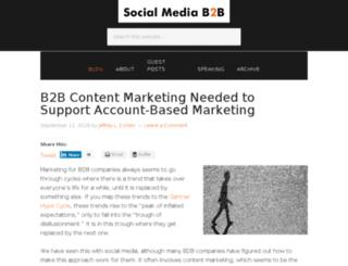 socialmediab2b.com screenshot