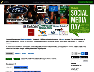 socialmediadaymiami2013.sched.org screenshot