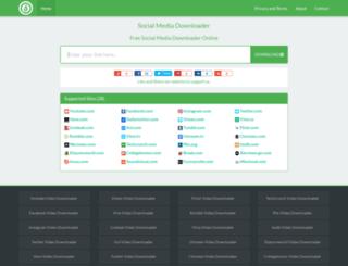socialmediadownloader.com screenshot