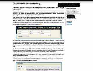 socialmediainformation.wordpress.com screenshot
