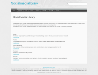 socialmedialibrary.co.uk screenshot