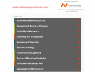 socialmediamanagementexpert.com screenshot