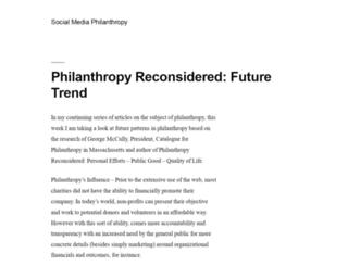 socialmediaphilanthropy.com screenshot