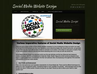 socialmediawebsitedesign.weebly.com screenshot