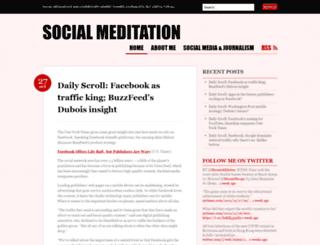 socialmeditation.wordpress.com screenshot