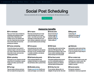 socialoomph.com screenshot