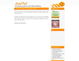 socialpeel.com screenshot