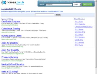 socialsafe2012.com screenshot