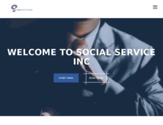 socialserviceinc.com screenshot