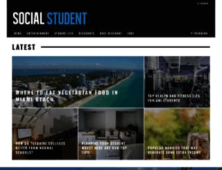 socialstudent.co.uk screenshot