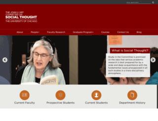 socialthought.uchicago.edu screenshot