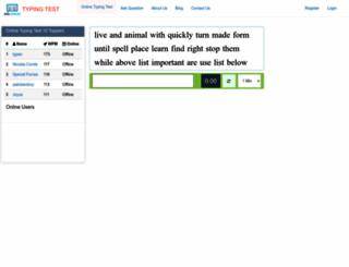 socialtypingtest.com screenshot