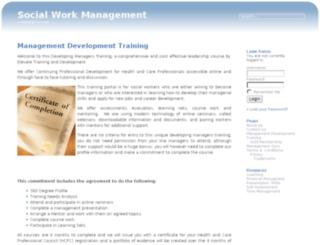 socialworkmanagement.co.uk screenshot